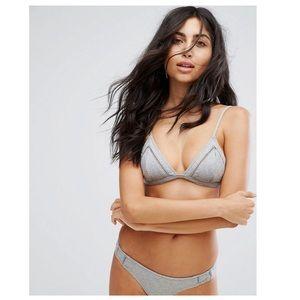 Lulus Rhythm My Bralette & Cheeky Gray Bikini